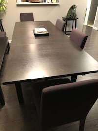 Table + 6 chairs and bench Surrey, V3R 1S1