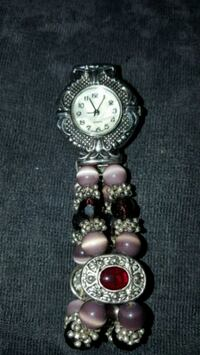 Gemstone and cats eye bracelet watch Newport, 37821