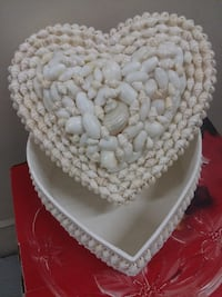 Heart Shaped Handmade Shell Storage Container