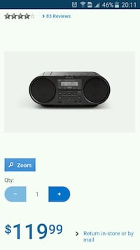 Sony bluetooth/cd/usb/aux/ boombox brand new Mississauga, L5A 3X2