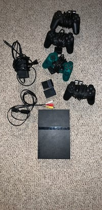 PS2 with 4 controllers and 2 memory cards, games, and 2 dance revolution mats Fredericksburg, 22407