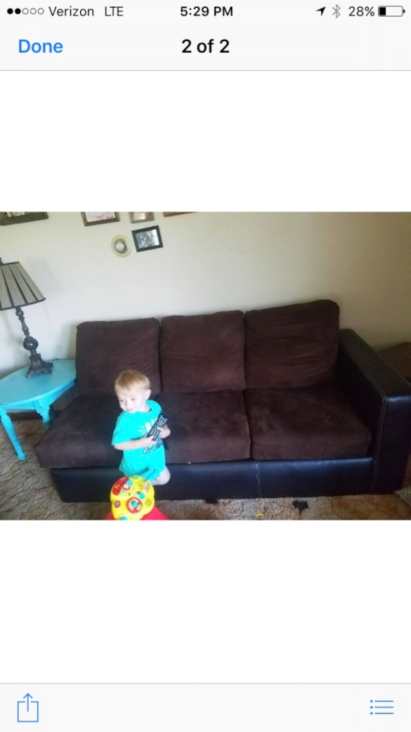 Brown sectional can be put together or seperated