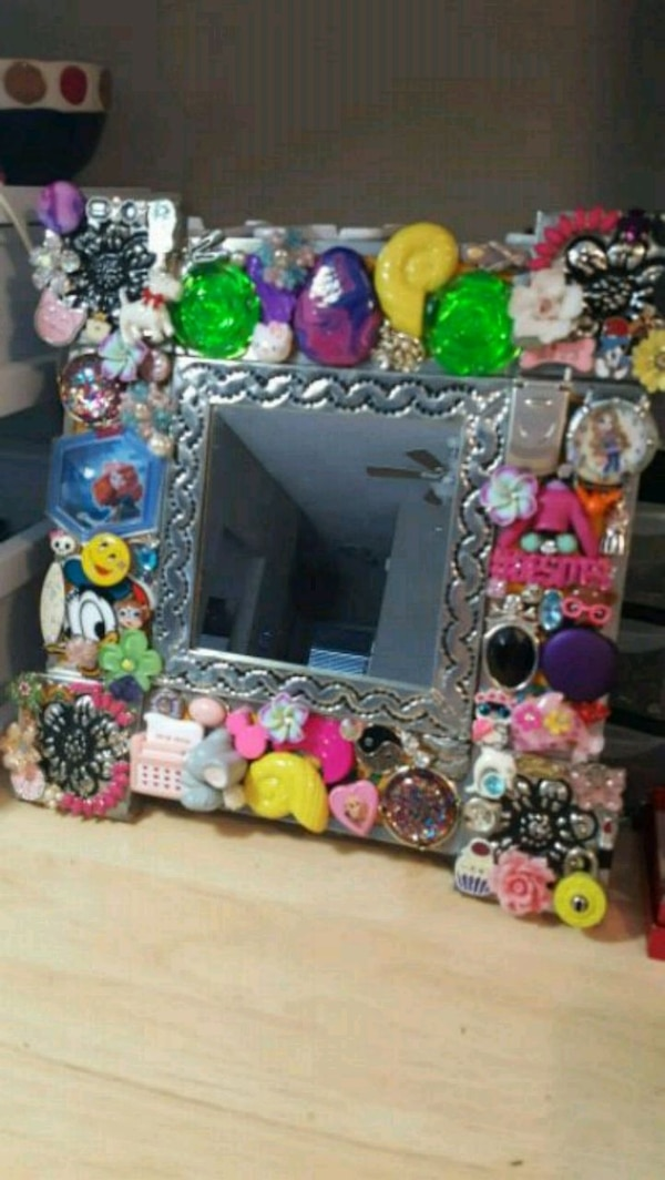 Decorated Mirror for a Young Girl