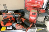 Milwaukee Tools and radio with extra station.