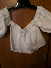 White Cross shoulder top various sizes new
