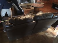 Real Leather Brown 2-seat Sofa Port Hope, L1A 4H1