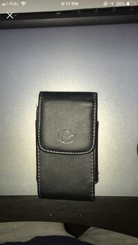 Black leather phone clip on holster Vaughan, L6A 4M5