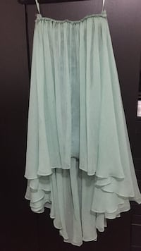 Strapless sweetheart mint green dress from Blaque label Small Montréal, H3S 1M4