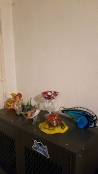 Hand blown glass collection