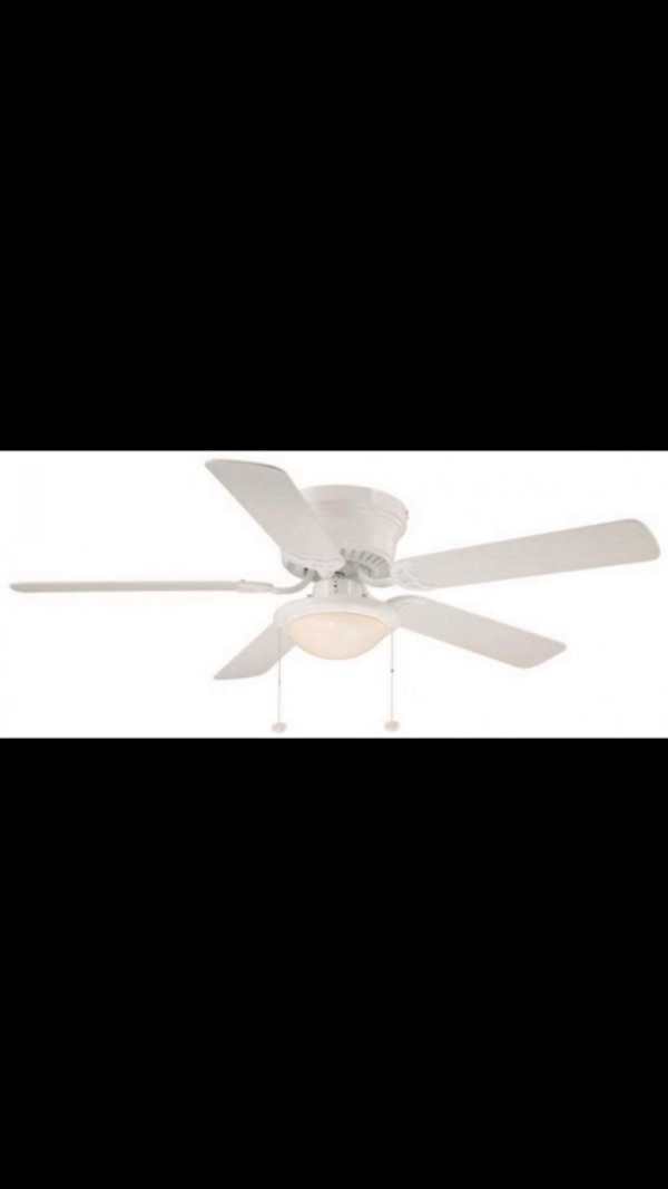 Used Hugger 52 In Led Indoor White Ceiling Fan With Light Kit For Farmers Branch Letgo