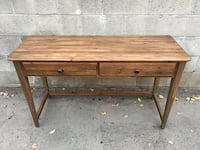 brown wooden 2-drawer table Los Angeles, 91405