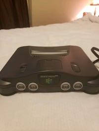 N64 Console with Controller and Cords