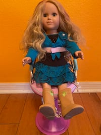 American Girl Doll and Salon Chair