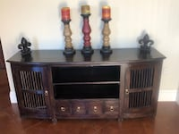 Brown solid teak wood buffet piece for office or media center Covington, 70433