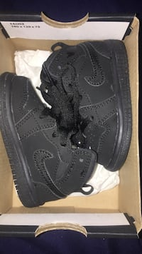 pair of black Nike Air Force 1 high Anaheim, 92802