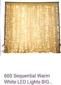 Gold backdrop with lights