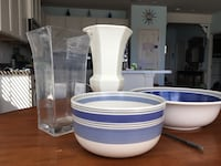 white and blue ceramic bowl and plate Mount Airy, 21771