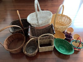Weaved wicker baskets