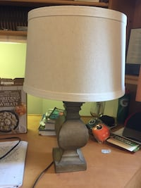 gray lamp shade and brown lamp base table lamp Charlottesville, 22903