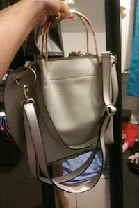 Silver leather 2-way sexy bag