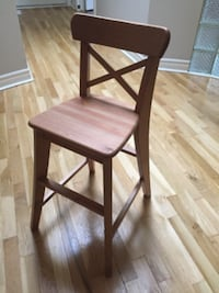 two brown wooden bar stools Vaughan