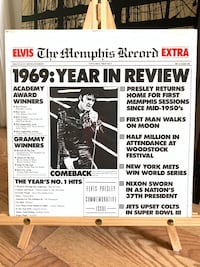 """Elvis """"The Memphis Record 1969 Year In Review"""" 2 LP Set FACTORY SEALED Baltimore, 21205"""