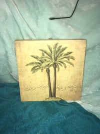 Two green palm trees canvas  Muscle Shoals, 35674