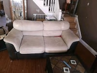 Leather and suede love seat 486 km