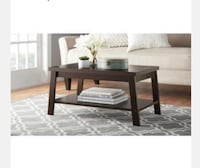 rectangular brown wooden coffee table North Las Vegas, 89086