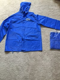 Finger lake horse racing raincoat, set of two.