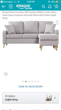 Gray Chaise Lounge Couch Columbia, 21044