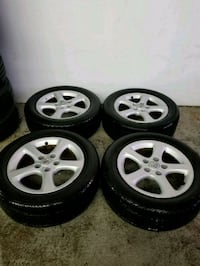 Nissan rims and tires 215/55/16 Toronto, M6L 1A4