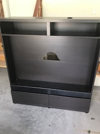 black wooden 2-layer shelf Ottawa, K2G 0K4