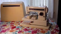 white and brown sewing machine null
