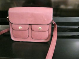 Crossbody bag. Red / wine color.