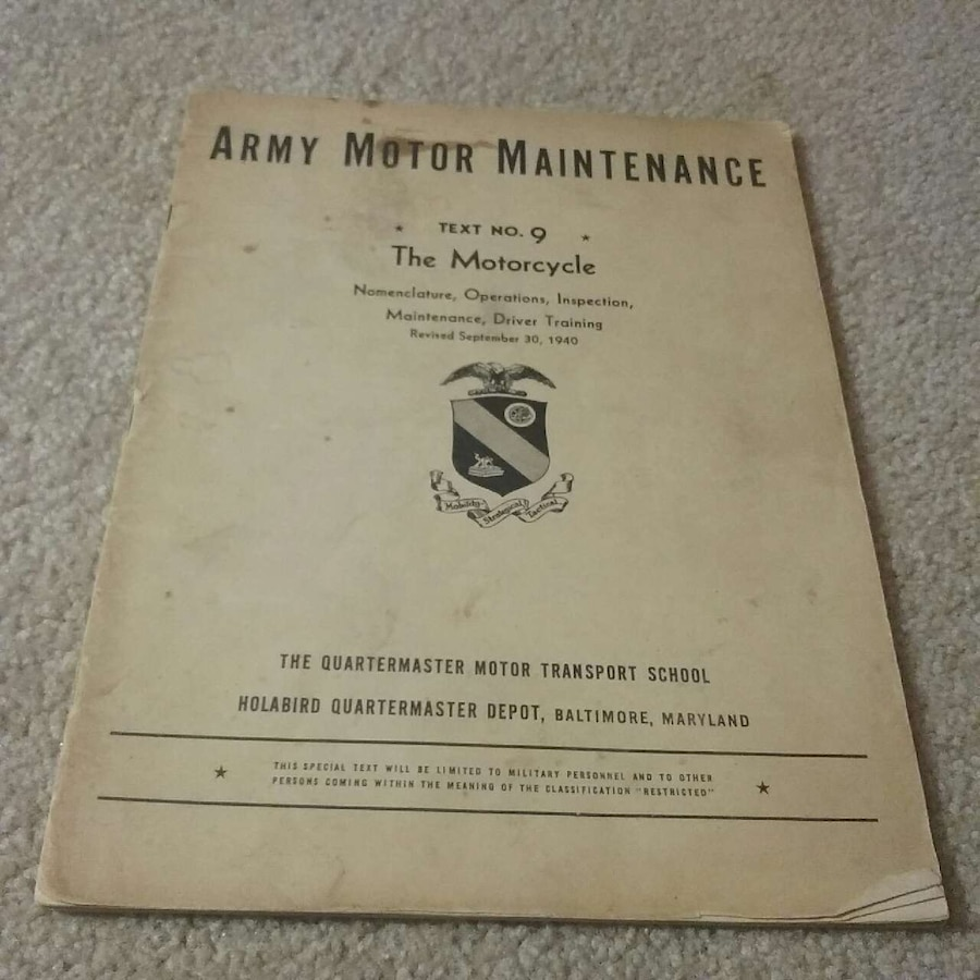 Used army motor maintenance book in evansville for Select motors evansville in