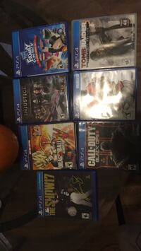 six assorted PS4 game cases Windsor Mill, 21244