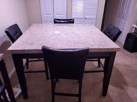 Monarch Counter Height Dining Table with 4 chairs
