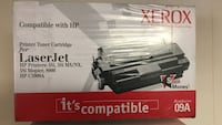 black Xerox LaserJet printer box