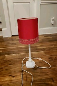 white and red table lamp Martinez, 30907