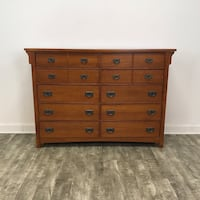 brown wooden 4-drawer chest Chicago, 60614