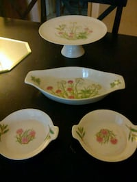 Vintage Herbs & Spices!Cake stand &Matching Pieces