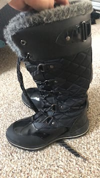 Black leather lace-up boots Montgomery, 12549