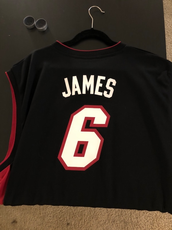 60a88ab2d4d Used Adidas Miami Heat Lebron James Jersey for sale in Plainfield ...
