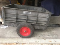 Utility cart for a riding lawnmower