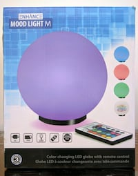 Premium Glass Color Changing Light with Remote Control - 7.9 inch