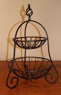 Wrought Iron fruit stand, 2 tier Ashburn