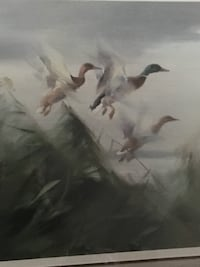 """Waterfowl print """"Out of the Marsh Grass"""" by Manfred Schaatz Fort Oglethorpe, 30742"""