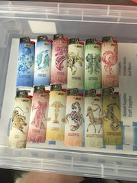 Complete set of 12 Astrology sign themed lighters - never been used Louisville, 40258