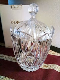 BLOCK Lead Crystal Biscuit Jar